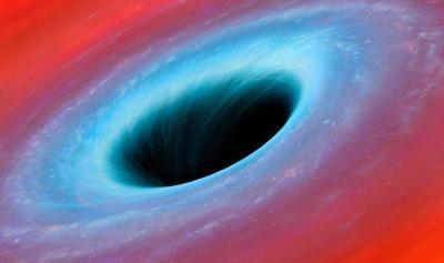 Черная дыра размером с галактику