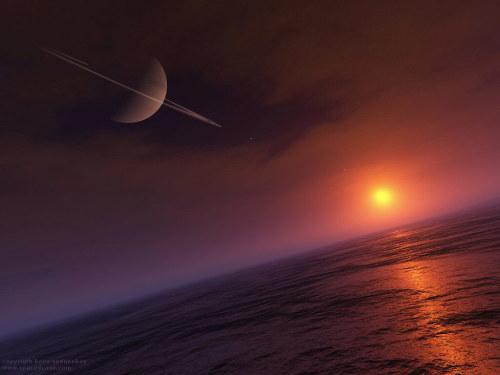 Водоемы на Титане