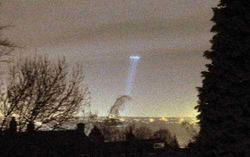 Фото луча из НЛО
