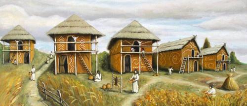 Древнее трипольское поселение