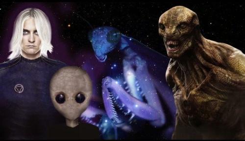 Виды инопланетян на Земле