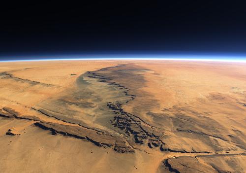 Ученые нашли следы воды на Марсе