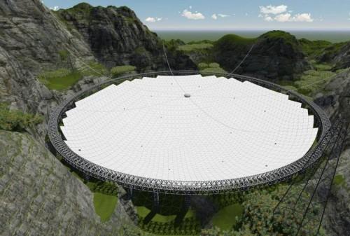 Огромный телескоп в Китае