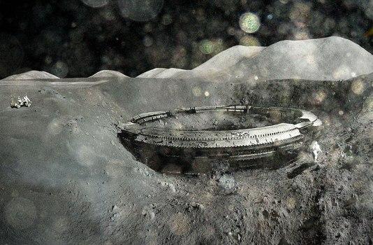 Строение инопланетян на Луне