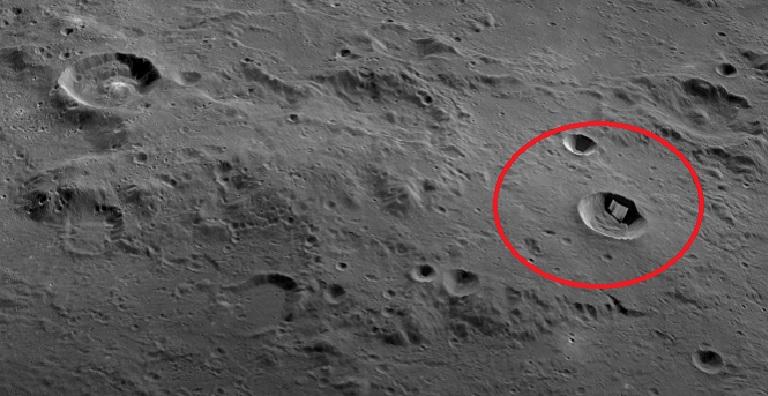 Инопланетное сооружение на Луне